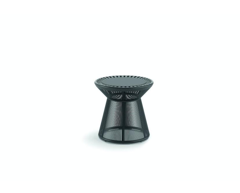 Dedon - Cirql Beistelltisch mit Tischplatte - onyx/carbon - 1