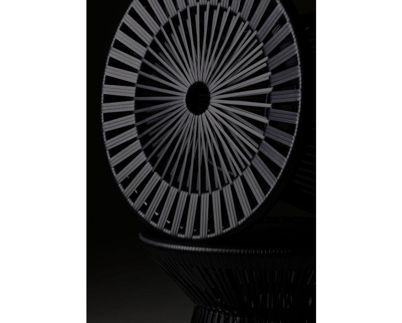 Dedon - Cirql Armchair, pied socle - sans coussin d'assise - onyx/carbon - 4