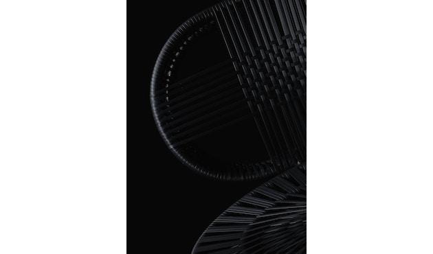 Dedon - Cirql Armchair, pied socle - sans coussin d'assise - onyx/carbon - 6