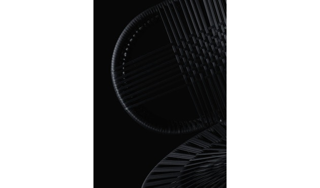 Dedon - Cirql Armchair, Standfuß - onyx/carbon - 6