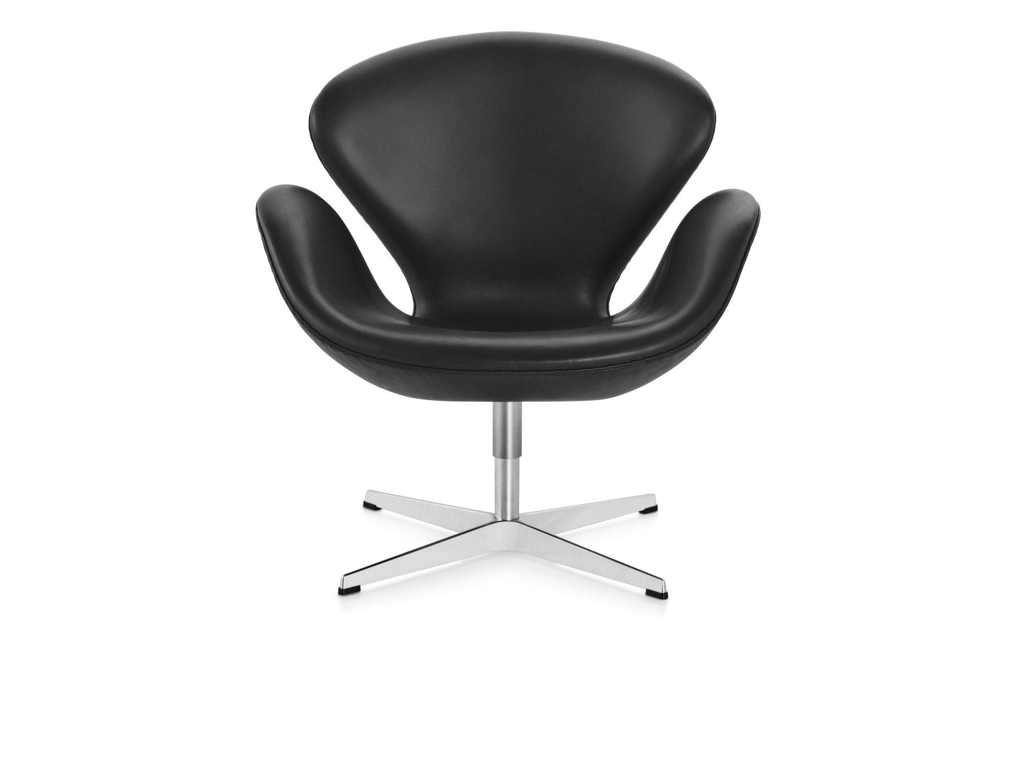 Fritz Hansen - Swan Chair - zwart - Classic leer - 12
