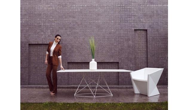 Vondom - FAZ Inox tafel - 70 x 70 cm - wit - 2