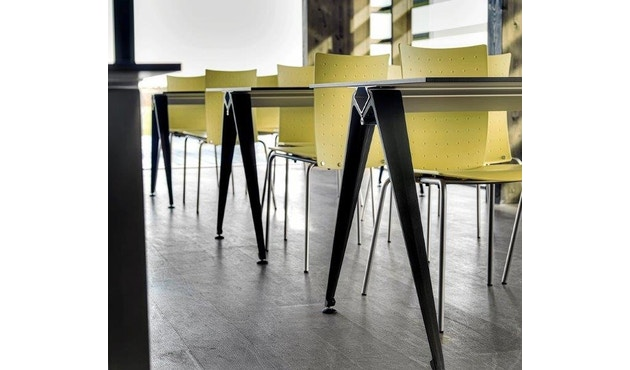 Randers + Radius - GRIP Basic tafel - 239 - 80 cm - wit - Zonder stekkerdoos - zwart - 8