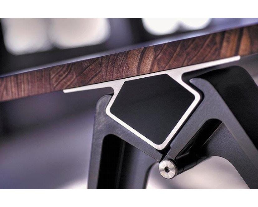 Randers + Radius - GRIP Basic tafel - 239 - 80 cm - wit - Zonder stekkerdoos - zwart - 6