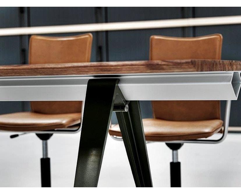 Randers + Radius - GRIP Basic tafel - 239 - 80 cm - wit - Zonder stekkerdoos - zwart - 7
