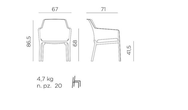 Nardi - Net Relax Lounge Stuhl - 3