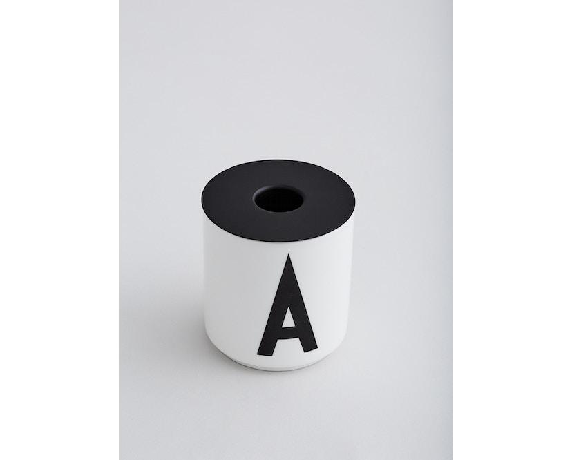 DESIGN LETTERS - Kerzenhaltereinssatz für Personal Porzellanbecher - schwarz - 2
