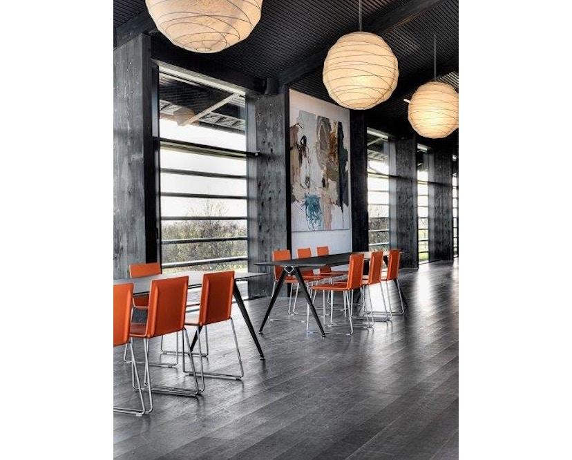 Randers + Radius - GRIP Basic tafel - 239 - 80 cm - wit - Zonder stekkerdoos - zwart - 10