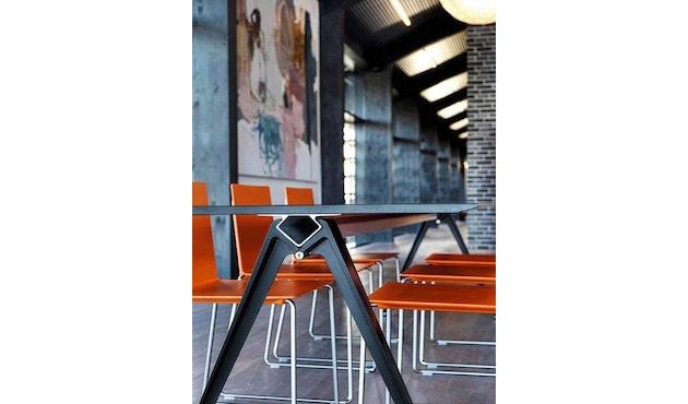 Randers + Radius - GRIP Basic tafel - 239 - 80 cm - wit - Zonder stekkerdoos - zwart - 9