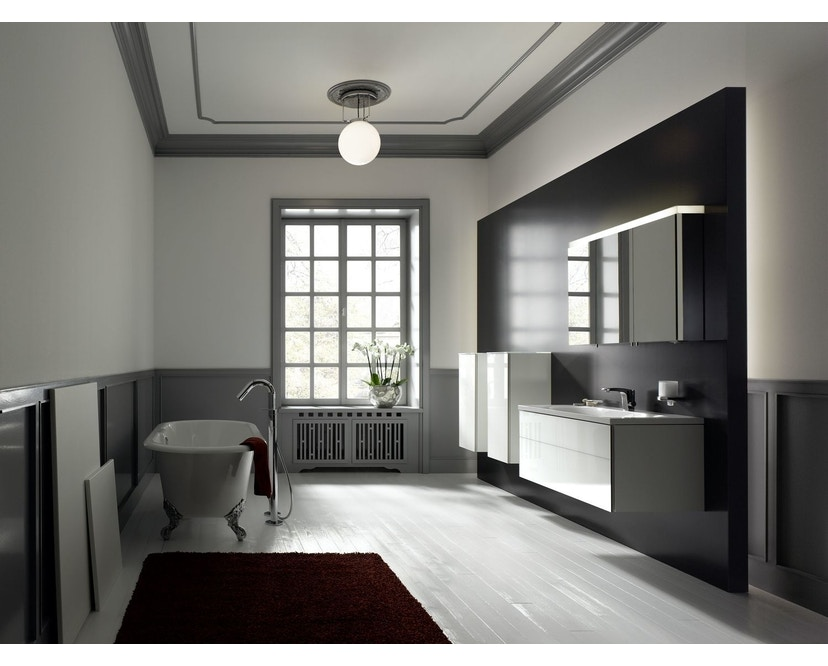 Tecnolumen - DMB 26 Bauhaus-Deckenleuchte - Metall vernickelt - Ø 25 cm - 3