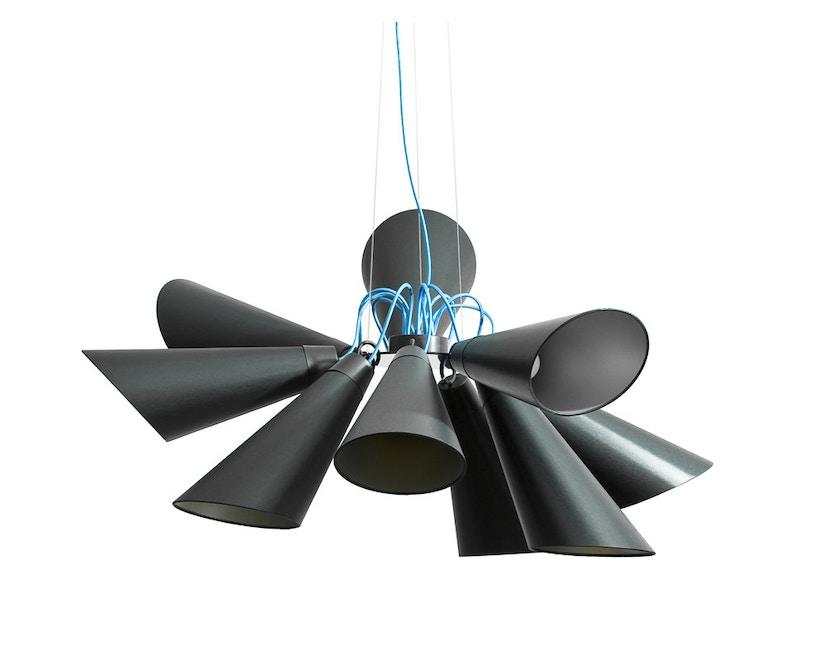 Domus - Pit 9 Pendelleuchte - weiss - Textilkabel blau - 1
