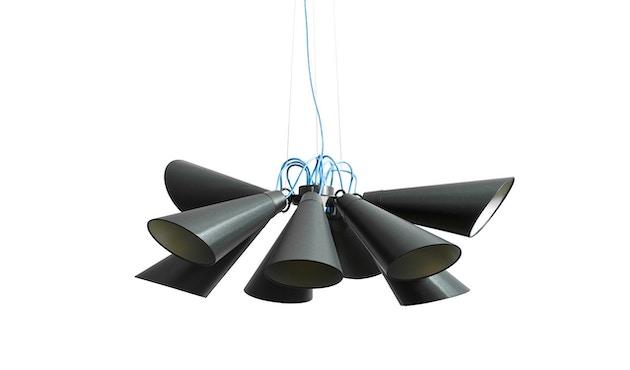 Domus - Pit 9 Pendelleuchte - weiss - Textilkabel blau - 5