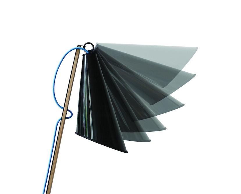 Domus - Pit Stehleuchte - schwarz - blaues Textilkabel - 4
