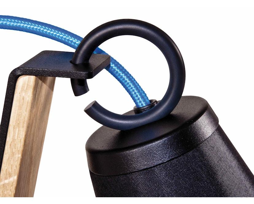 Domus - Pit Stehleuchte - schwarz - blaues Textilkabel - 5