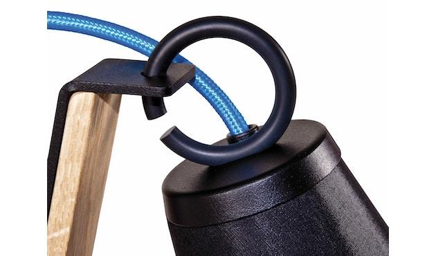 Domus - Pit Tischleuchte - weiss - Textilkabel blau - 5