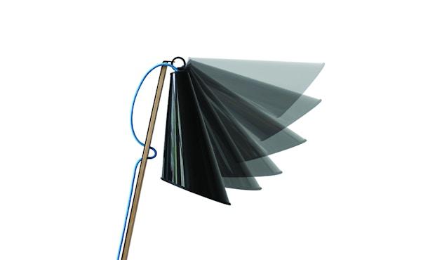 Domus - Pit Tischleuchte - weiss - Textilkabel blau - 6