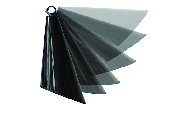 Domus - Pit Wandleuchte mit Stecker - schwarz - rotes Textilkabel - 3