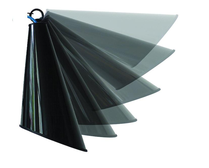 Domus - Pit Wandleuchte - weiss - Textilkabel blau - 3