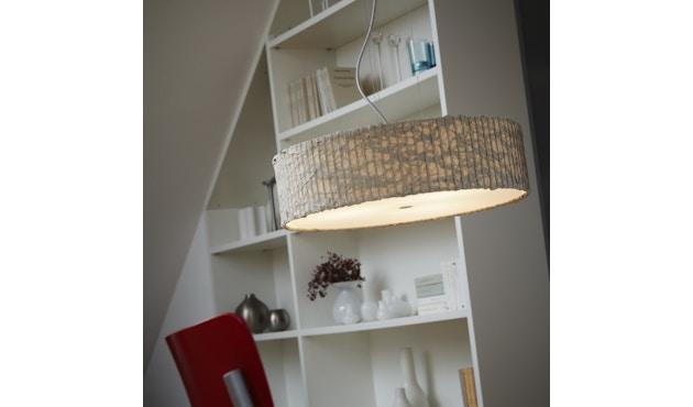 Domus - Sten Cloud Pendelleuchte - elfenbein - Textilkabel rot - 3