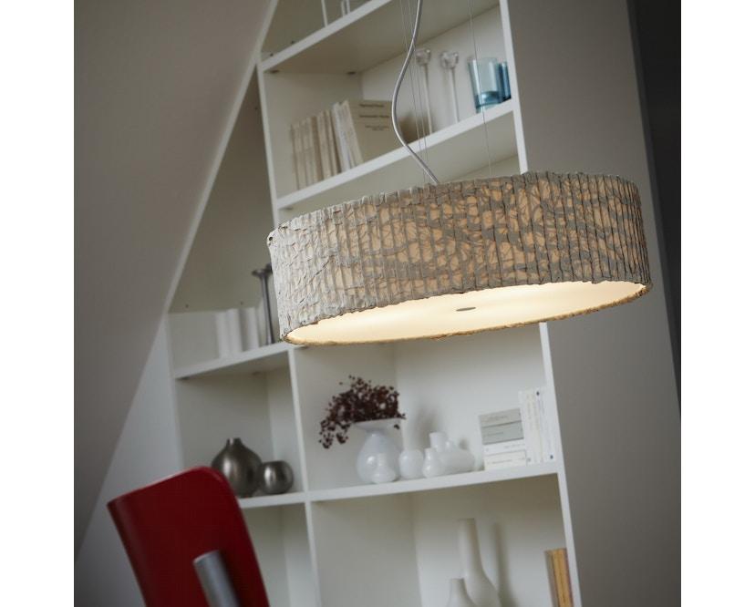 Domus - Sten Cloud Pendelleuchte - elfenbein - Textilkabel rot - 5