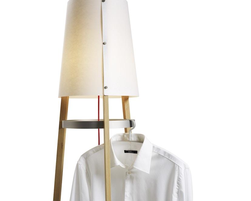 Domus - Wai Ting Stehleuchte - Weißeiche - Textilkabel rot - 4