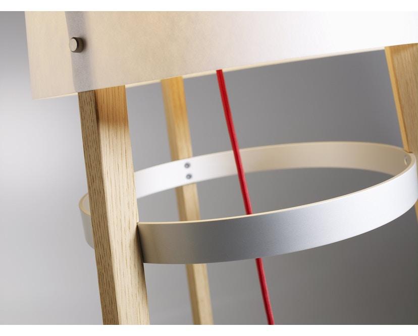 Domus - Wai Ting Stehleuchte - Weißeiche - Textilkabel rot - 6