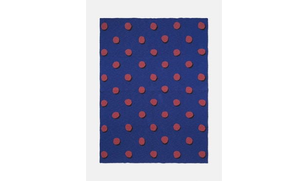 ferm LIVING - Double Dot Decke - blau - 1