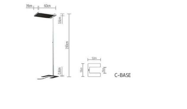 Tobias Grau - XT-A Floor vloerlamp - C-Base - satijn/zwart - 2