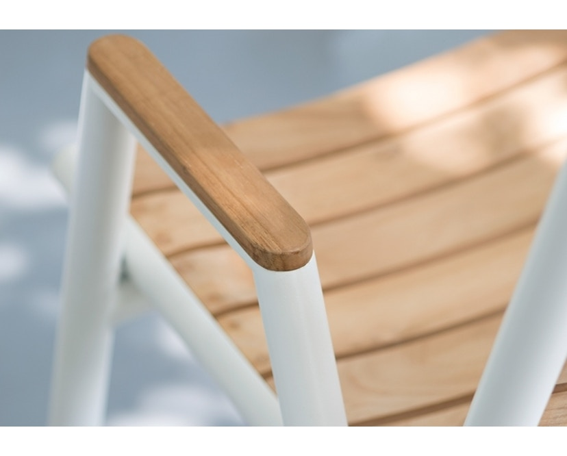 Vlaemynck - Pilotis Tiefer Sessel mit Armlehne - Teak (braun) - 6