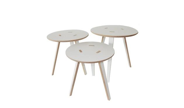 Tojo - Rund Tisch - weiß - 40 cm - 2