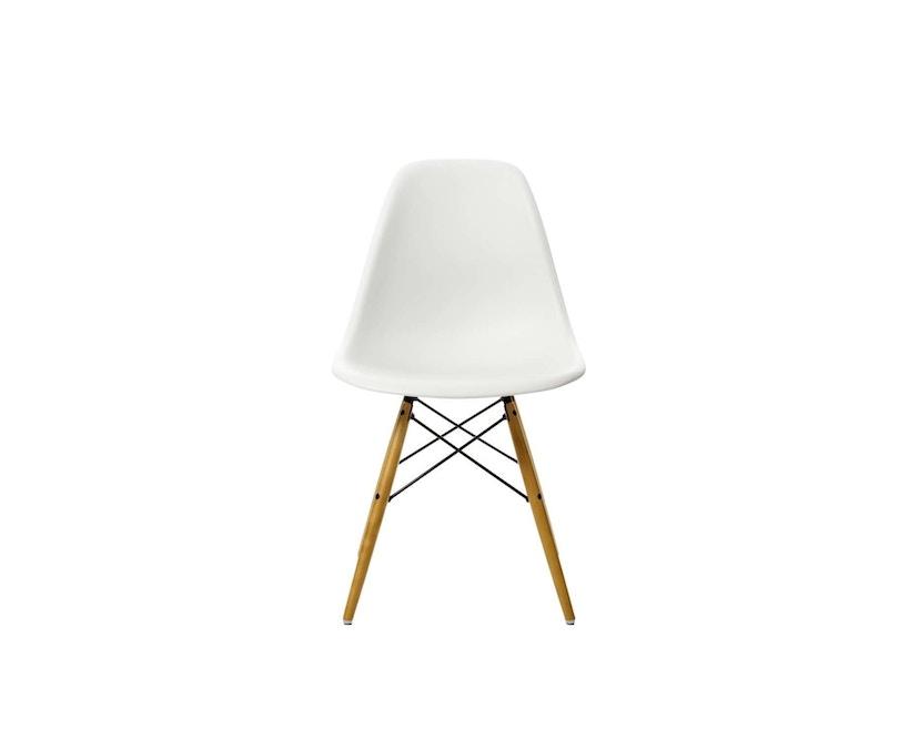 Vitra - DSW Eames Plastic Sidechair - blanc - érable jaune - patin pour sols durs - 2