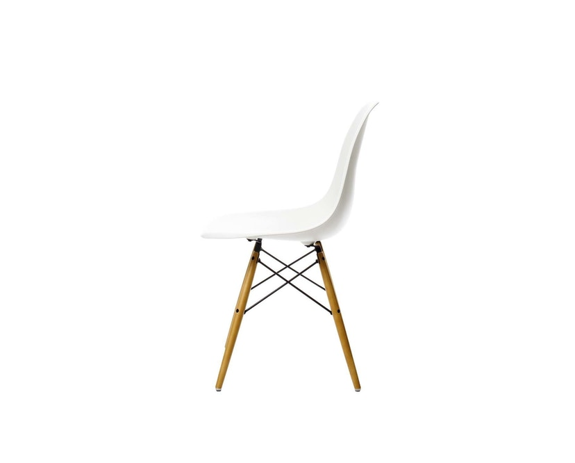 Vitra - DSW Eames Plastic Sidechair - blanc - érable jaune - patin pour sols durs - 3