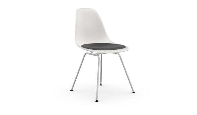 Vitra - DSX mit Sitzpolster - weiß - Sitzhöhe 46 cm - 1