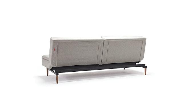 Innovation - Dublexo Schlafsofa - Dess. 563 - grau - Gestell matt schwarz - Beine Ulme dunkel - 4