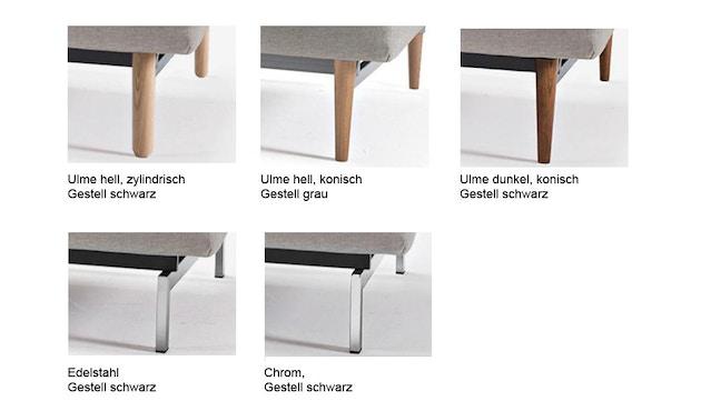 Innovation - Dublexo Sofa mit Armlehnen - Dess. 563 - grau - Beine Ulme dunkel konisch, Gestell schwarz - Chroom - natural - Mixed Dance - 3