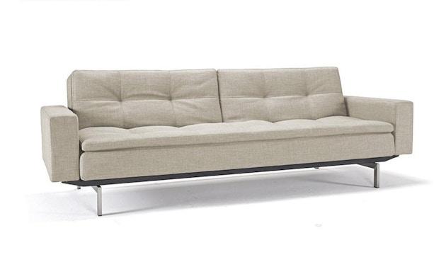 Innovation - Dublexo Sofa mit Armlehnen - Dess. 527 natur - Beine Chrom, Gestell schwarz - 1