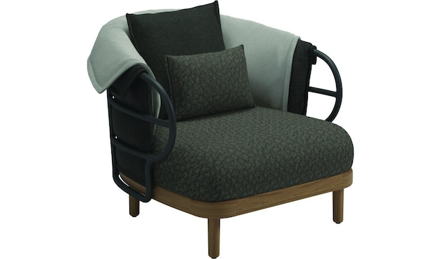 Gloster - Dune Lounge Sessel - anthrazit - 1