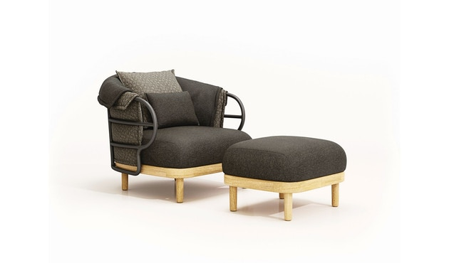 Gloster - Dune Lounge Sessel - anthrazit - 2