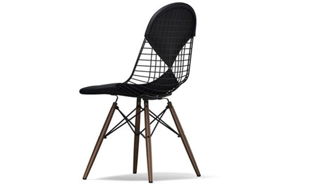 Vitra - Wire Chair DKW-2 - Ahorn dunkel, Hopsak 66 nero - Sitzhöhe 43 cm - 1
