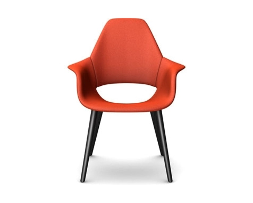 Vitra - Fauteuil Organic Chair - frêne noir - Hopsak - orange - 2