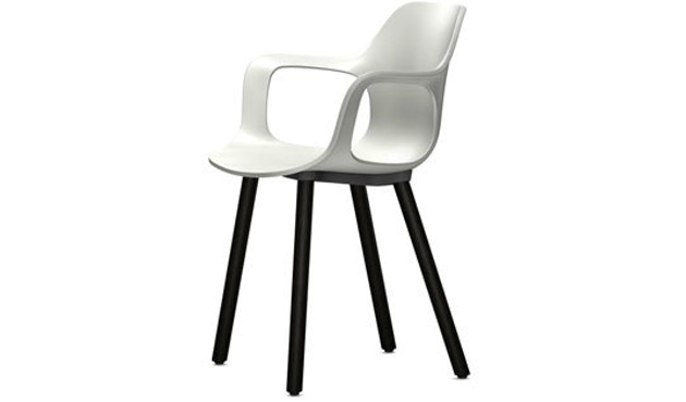 Vitra - HAL Armchair hout - Eiken donker - wit - 1