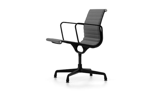 Vitra - Aluminium Chair - EA 108, Gestell beschichtet tiefschwarz, Filzgleiter Hartboden - Hopsak - 05 dunkelgrau - 2
