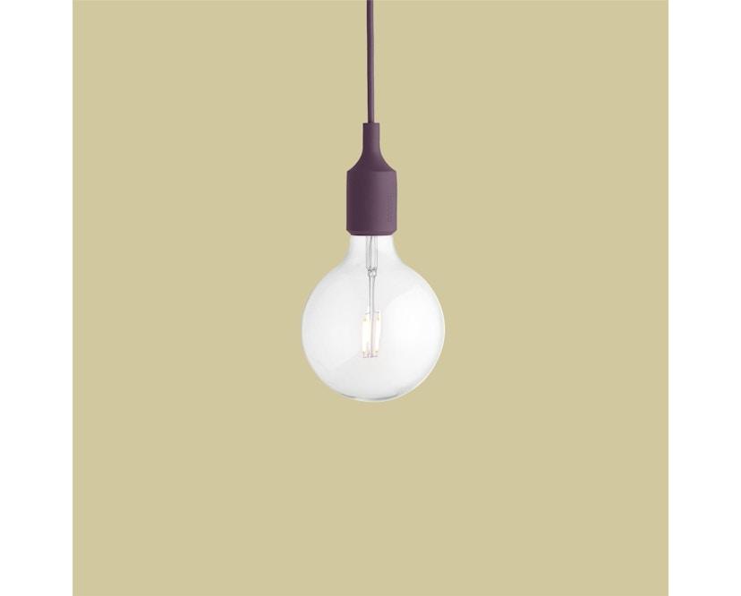 Muuto - Suspension E 27 LED - rouge bourguignon - 7