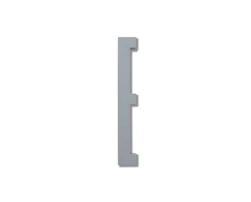 DESIGN LETTERS - Hölzerne Buchstaben - grau - E - 1