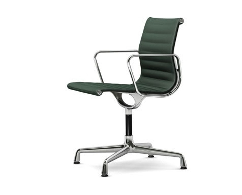 Vitra - Aluminium Chair - EA 103, Gestell poliert, Filzgleiter Hartboden - 73 petrol moorbraun - 1