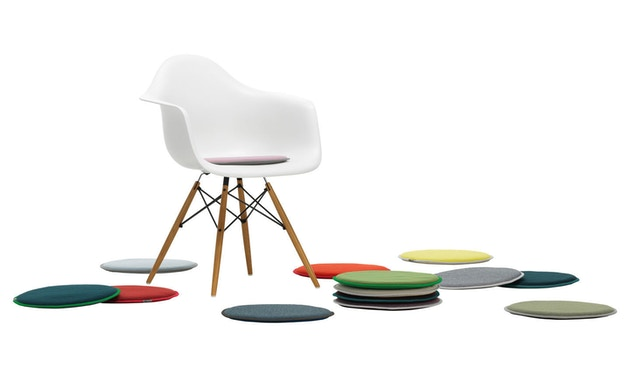Vitra - Coussin d'assise Seat Dots Update - mint/forest - pétrole/nero - 2