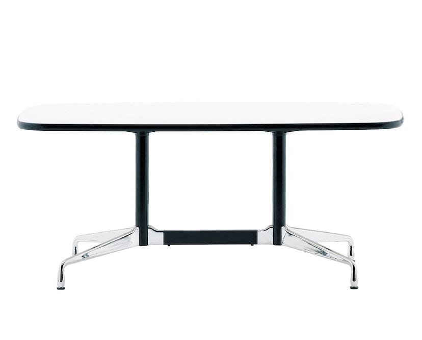 Vitra - Eames Segmented Table Meeting Bootsform 200 x 115 cm, Ausleger poliert, Standrohr basic dark - HPL weiß, Kunstoffkante schwarz - 1