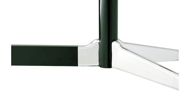 Vitra - Eames Segmented Table Meeting Bootsform 200 x 115 cm, Ausleger poliert, Standrohr basic dark - HPL weiß, Kunstoffkante schwarz - 5