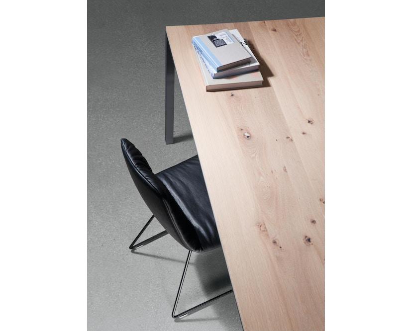 Janua - S 600 Tisch - Eiche weiß pigmentiert - Gestell Verkehrsweiß - 80x80 - 6