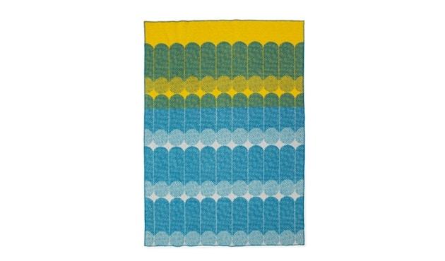 Normann Copenhagen - Ekko Wolldecke - gelb/blau - 1